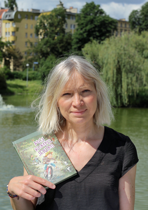 Ewa Martynkien z książką Mój kumpel Jeremi