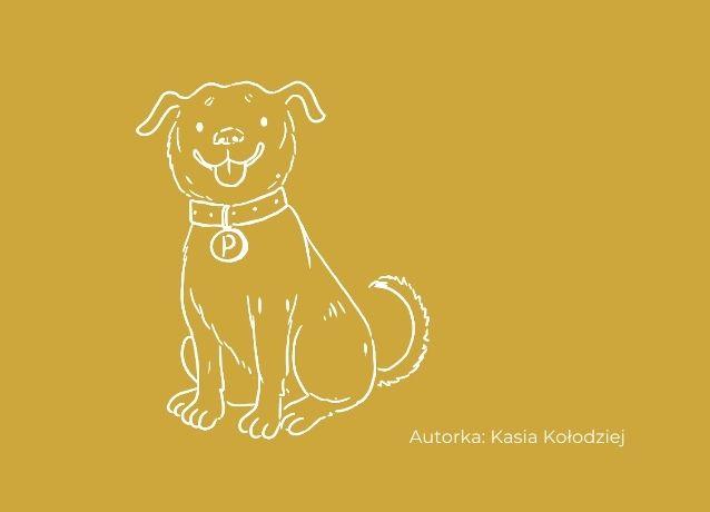 Pies Pinki rysunek Kasi Kołodziej
